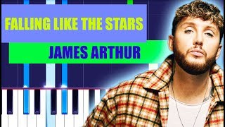 James Arthur - Falling like the Stars Piano Tutorial EASY