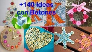 Reciclaje de Botones +140 Ideas / Recycling Buttons +140 Ideas