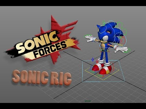 Sonic Forces Model, Rig, Animation! | Autodesk Maya Rig Animation [Sonic Rig Download]