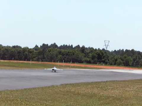 Pete Lawton takes off RC Gripen turbine jet