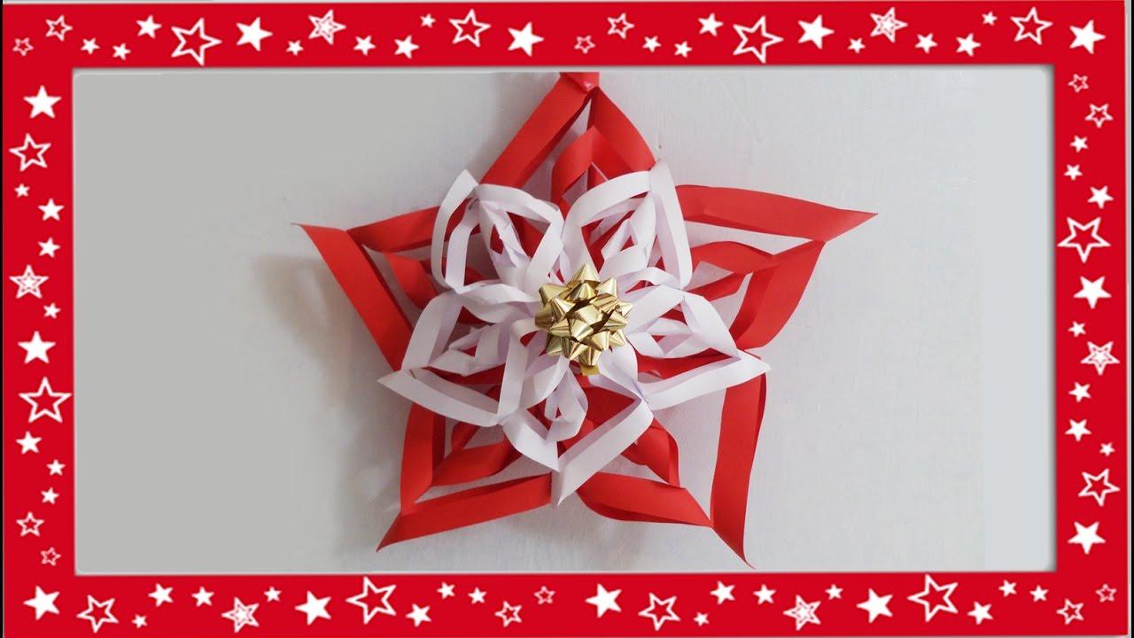 Tutorial decorazioni natalizie stella di Natale fai da