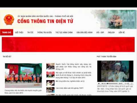 Khai trương cổng thông tin điện tử huyện Quốc Oai