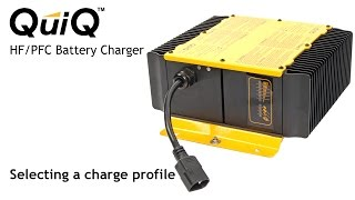 Selecting a charge profile on the Delta-Q QuiQ Charger