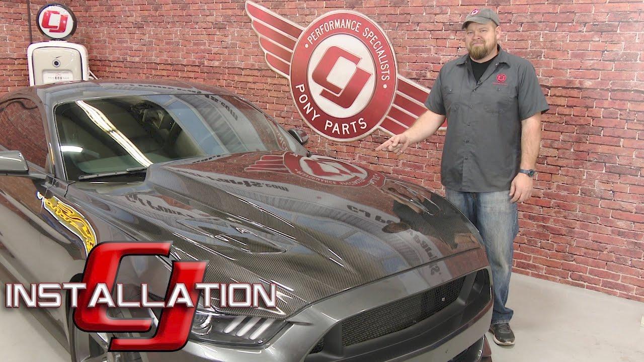 Bill Hood Ford >> 2015-2017 Mustang V6/EcoBoost/GT Trufiber Hood A49-3 Carbon Fiber Installation - YouTube