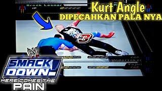 SMACK DOWN! Here Comes The PAIN - Brock Lesnar team Vs Kurt Angle team