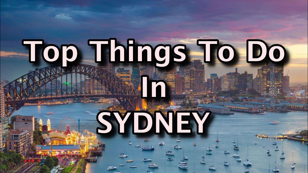 Sydney must do top 10