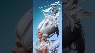 русский художник создает из бумагипарики в стиле бароккоCCTV Русский