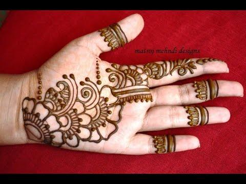 Easy Simple Mehndi Henna Designs Tutorials Mehndi Design