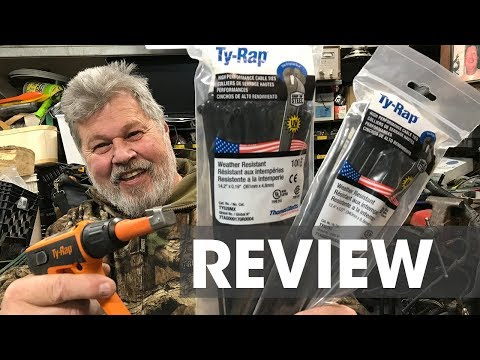 Thomas and Betts Xmas Gift for Gator, Ty-Rap and ERG120 Hand Tool Review
