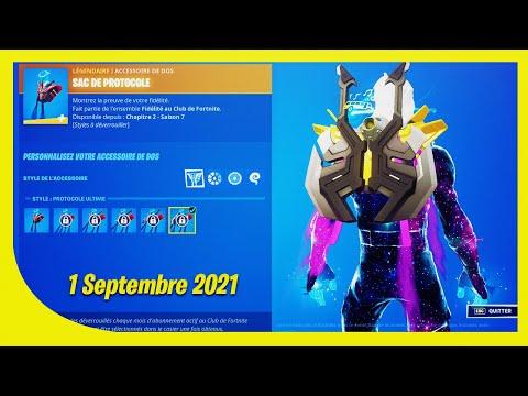 BOUTIQUE FORTNITE du 1 Septembre 2021 ! Pack de FIDÉLITÉ !