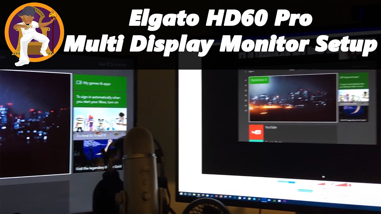 Elgato HD 60 Pro Multi Monitor Setup (Switch between Consoles without  ending Stream)