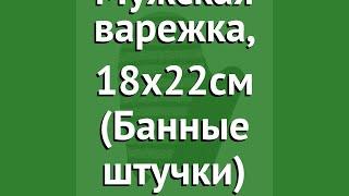 Мочалка Мужская варежка, 18х22см (Банные штучки) обзор 41263 производитель ЛинкГрупп ПТК (Россия)