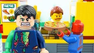 LEGO City Pizza Fail STOP MOTION LEGO City Angry Hulk Brick Building | LEGO City | By Billy Bricks