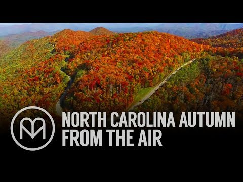 North Carolina Autumn From the Air