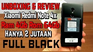 Unboxing Xiaomi redmi note 4x 4gb/64gb full black | Indonesia