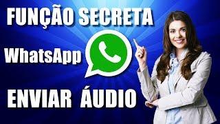 Veja função secreta para enviar áudio no WhatsApp - Tutorial 2017/2018