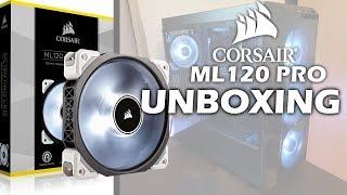 corsair ML120 PRO UNBOXING & SETUP!