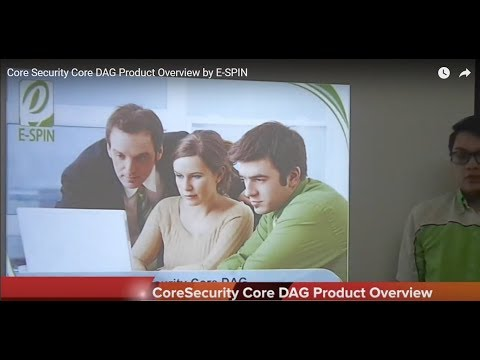 Core Security Core DAG Product Overview by E-SPIN