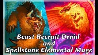 Hearthstone  Beast Recruit Druid & Spellstone Elemental Mage