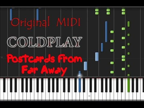 Coldplay - Postcards from Far Away [Piano Tutorial] (♫)