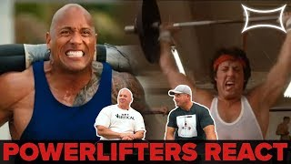 Professional Powerlifters React to Lifting Scenes in Hollywood