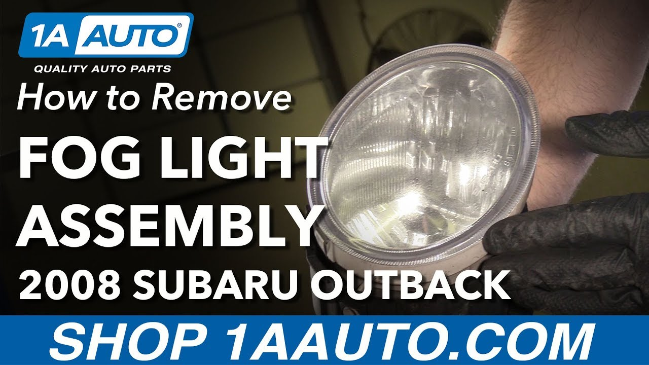 How To Replace Fog Light Assembly 04-09 Subaru Outback