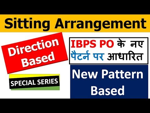 Sitting arrangement with Variable (Direction Based ) *NEW PATTERN for IBPS PO, RRB (With Assignment)