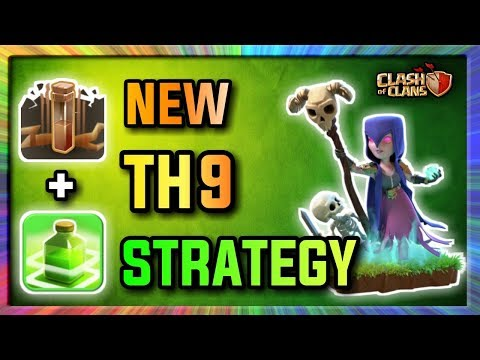 QUAD QUAKE + JUMP + GOVAWITCH | (2017) New Th9 STRONG 3 STARS WAR STRATEGY! | Clash Of Clans