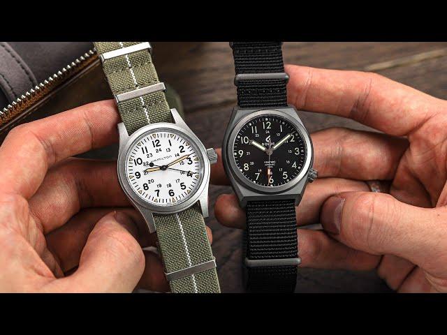 Battle of the Field Watches: Hamilton Khaki Field Mechanical vs BOLDR Venture