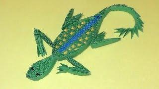 Модульное оригами ящерица видео урок-схема, пошаговая инструкция