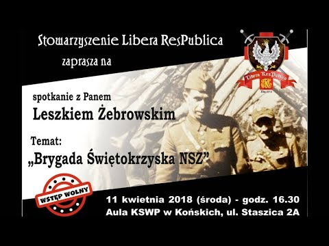 Leszek Żebrowski – Brygada Świętokrzyska NSZ