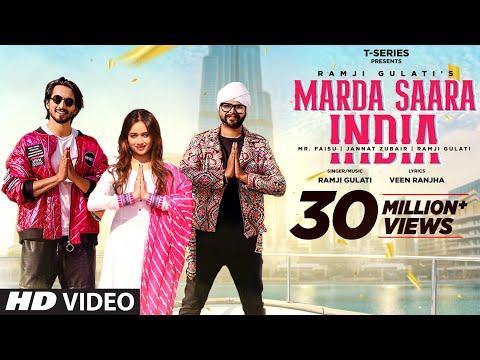 Marda Saara India | Ramji Gulati Feat Jannat Zubair, Mr. Faisu | Veen Ranjha | T-Series