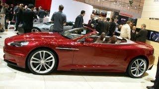 2010 Aston Martin DBS Volante and V12 Vantage @ 2009 Geneva Auto Show - CAR and Driver
