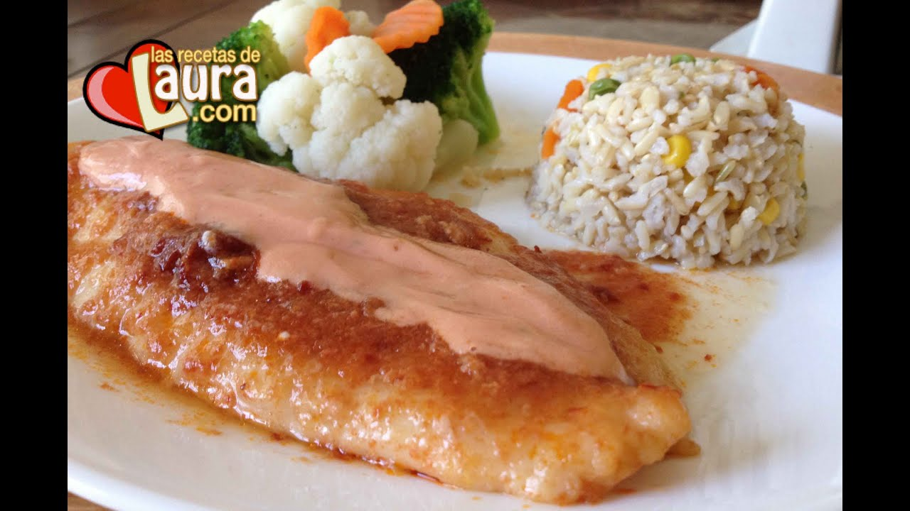 Filete de pescado en crema de chipotle las recetas de for Comida para tilapia