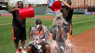 MIN@BAL: Orioles participate in Ice Bucket Challenge