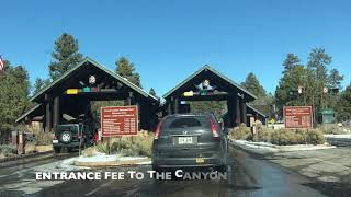 ROAD TRIP FROM PHOENIX TO GRAND CANYON IN WINTER- SOUTH RIM