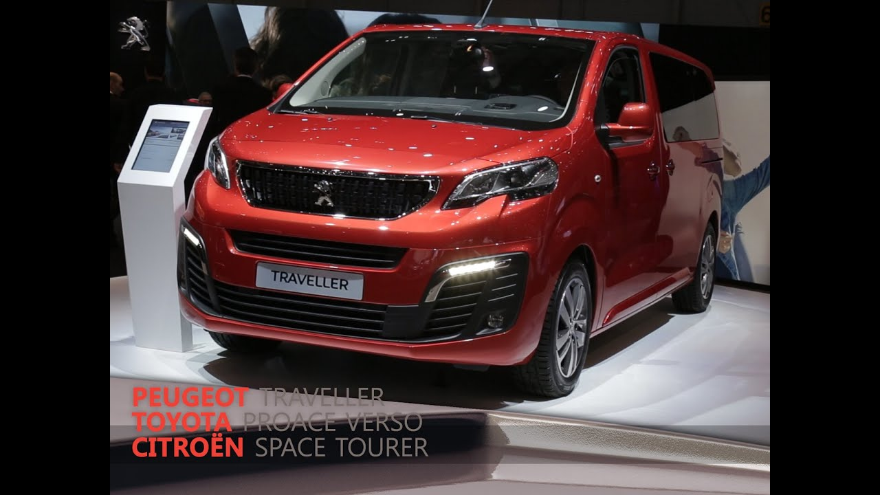 citro n space tourer peugeot traveller et toyota proace verso en direct du salon de gen ve 2016. Black Bedroom Furniture Sets. Home Design Ideas