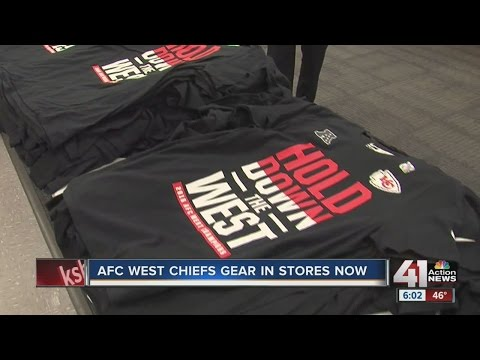 AFC West Chiefs gear in stores now