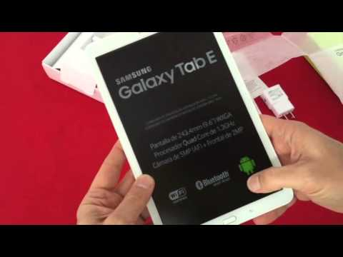 Samsung Galaxy Tab E SM T560 Unboxing en Español