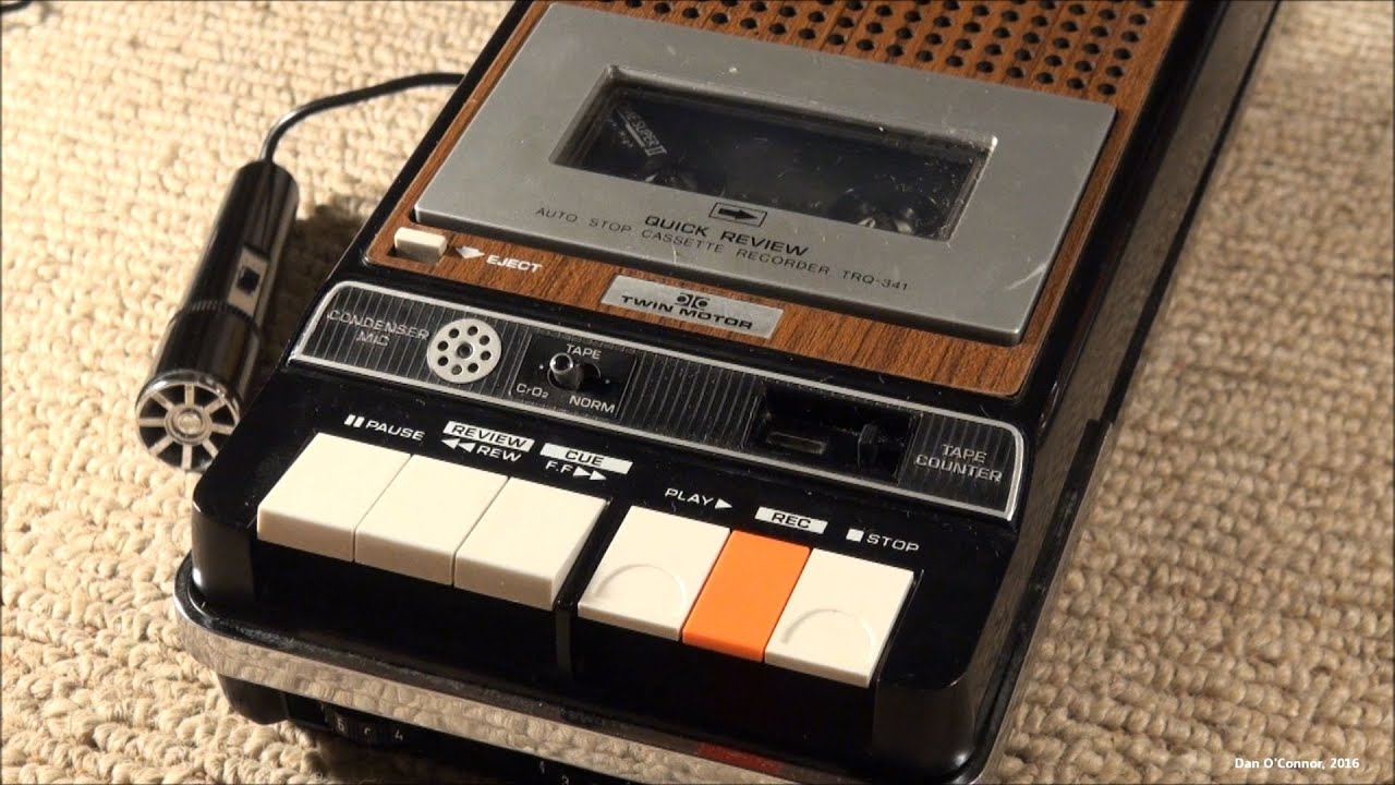 1974 Hitachi Trq-341 Twin-motor Type Ii Cassette Recorder
