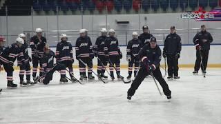 Павел Дацюк и Тодд Вудкрофт на открытой тренировке в «Хоккейном городе»