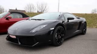 Video Black Lamborghini Gallardo LP560-4 - LOUD Accelerations & Downshifts! download MP3, 3GP, MP4, WEBM, AVI, FLV Agustus 2018