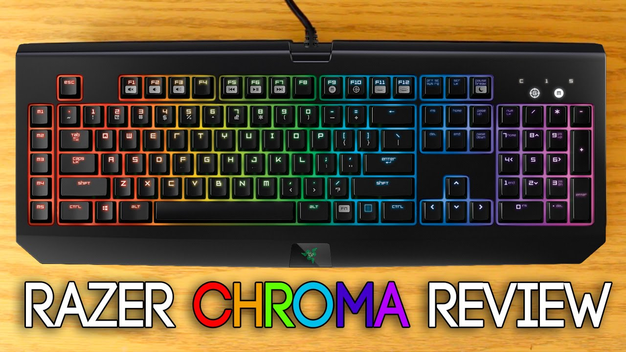 Review: Razer Blackwidow Chroma Keyboard - YouTube