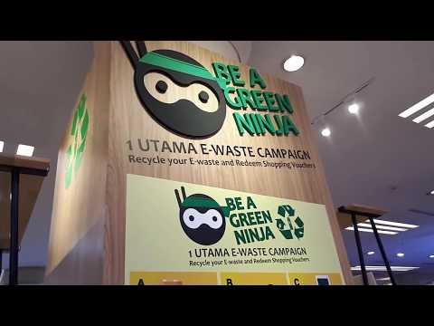 Be A Green Ninja At One Utama Shopping Centre | Malaysia Recycle Campaign
