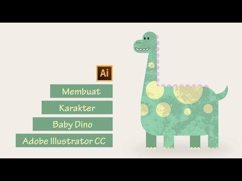 Tutorial Adobe Illustrator CC #02 - Desain Karakter Baby Dino   Flat Design   Bahasa Indonesia thumbnail
