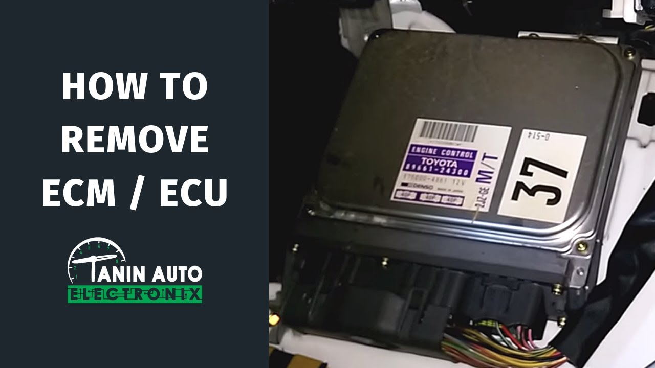 tanin auto electronix lexus sc300 sc400 ecu engine control module removal and repair [ 1280 x 720 Pixel ]