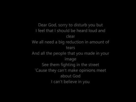 XTC - Dear God - Lyrics