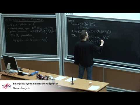 Nicolas Rougerie : Emergent anyons in quantum Hall physics