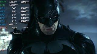 Batman: Arkham Knight Ryzen 3 2200G Vega 8 GPU@1650Mhz CPU@3.8Ghz