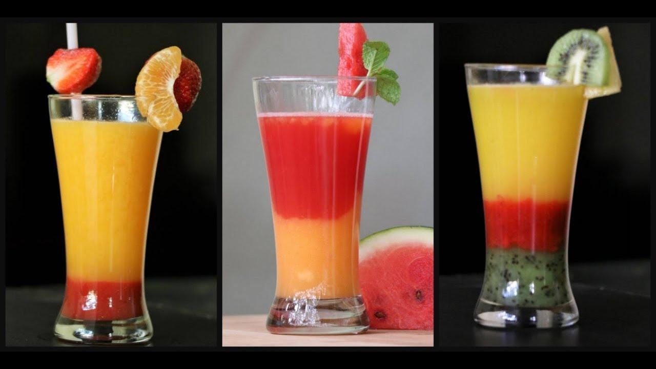 Mocktail Recipes Mocktails For Kids How To Make Simple Layered Fruit Mocktails At Home Youtube